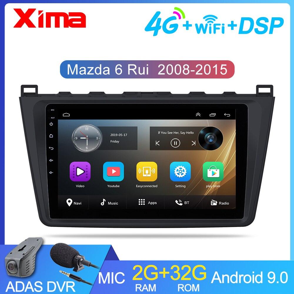 2G + 32G 2 din Android 9.0 Car Radio for Mazda 6 Rui wing 2008 2009 2010 2011 2012-2014 Wifi Radio Audio GPS Multimedia Playe