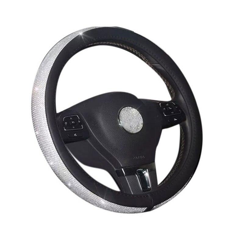 BOOST nuevo patrón de diamantes de imitación de cristal diamante PU cubiertas de volante cristal Auto accesorios interiores de coche