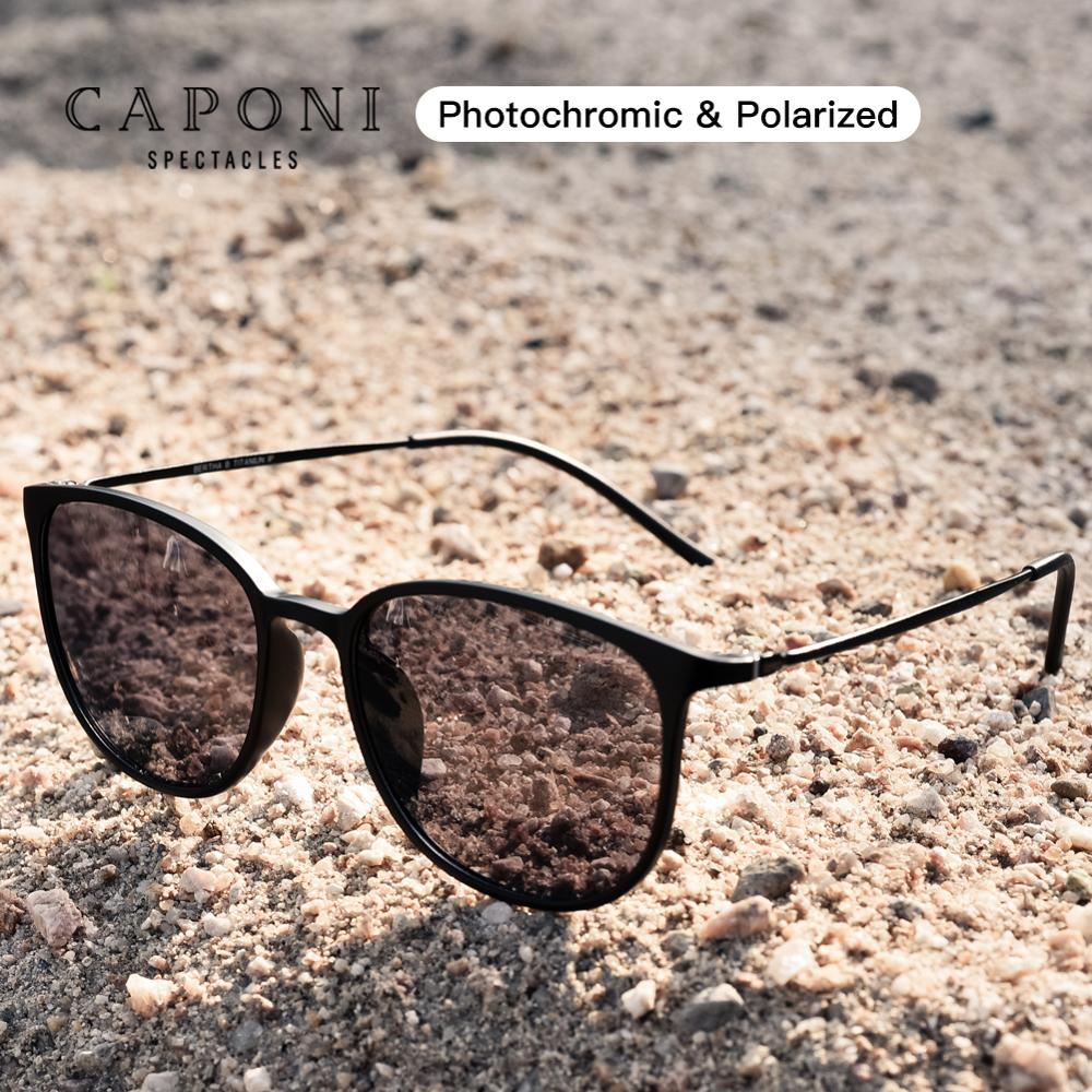 CAPONI البيضاوي الرجال النظارات الشمسية فوتوكروميك نظارات شمسية مستقطبة للرجال حماية UV راي إطارات دراجة تسلق الجبال خفيفة الوزن صغيرة الحجم ال...