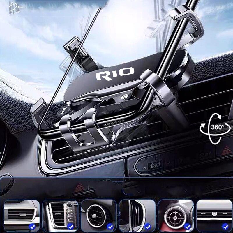 Metal Phone Holder Car Navigation Mobile Phone Holder Bracket Support For rio 2 3 4 2013 2014 2019