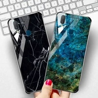 marble tempered glass case for vivo y11 y19 2019 cases on vivo v17 s1 x30 pro y9s u3 y5s z5i u20 y17 u3x u10 y15 y12 y3 covers