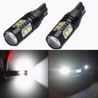 2pcs t10 backup reverse bulb 921 912 t10 t15 led 6000k daytime runing fog lamp white canbus obc error free backup light