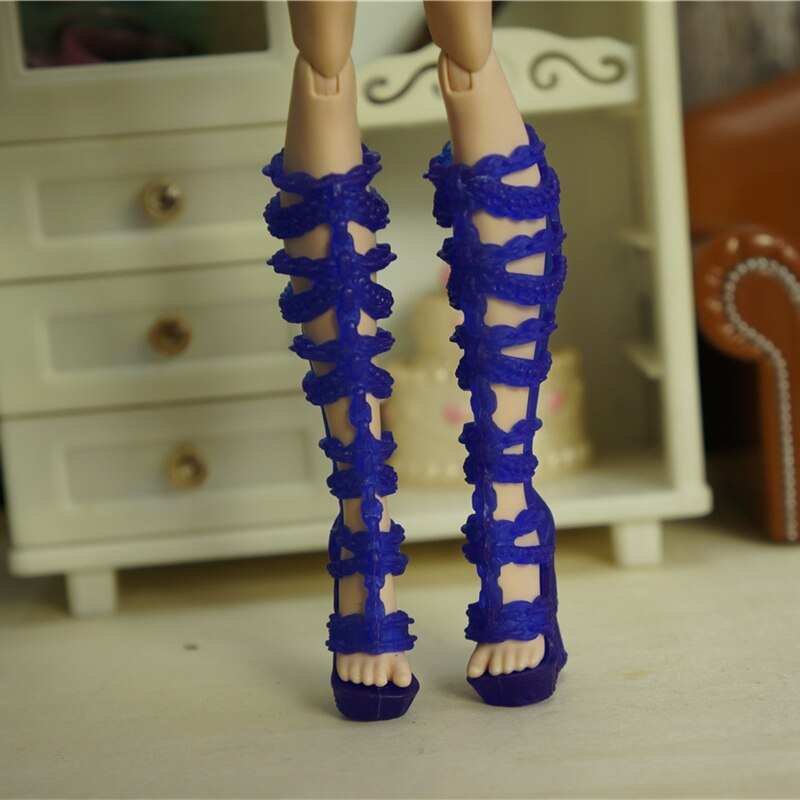 Paquete de pares de zapatos para Barbie BJD Monster, accesorios de ropa...