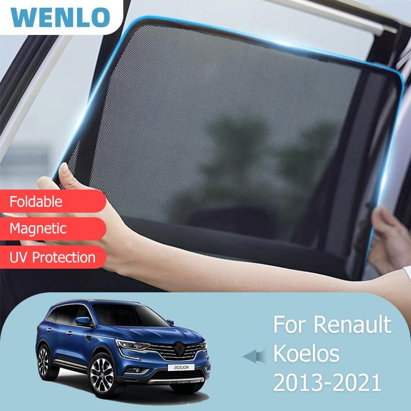 Для Renault Koleos 2013-2021, переднее лобовое стекло, автомобильный солнцезащитный козырек, задняя зеркальная Магнитная шторка, солнцезащитный козыр...