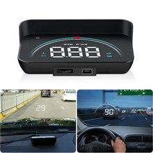 GEYIREN M8 автомобильный HUD Дисплей OBD2 II EUOBD система предупреждения о превышении скорости проектор лобовое стекло авто электронная сигнализация напряжения