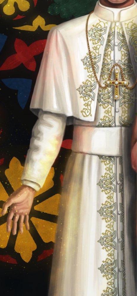 Romain blanc prêtre soucoupe Robe Robe Clergyman vêtements médiéval pape Robe cosplay
