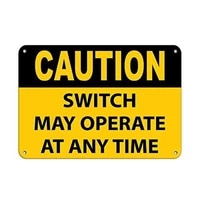 caution switch may operate at any time traffic tin sign art wall decorationvintage aluminum retro metal sign