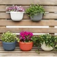 durable imitation rattan wicker creative wall hanging flower pot basket holder home garden balcony decoration