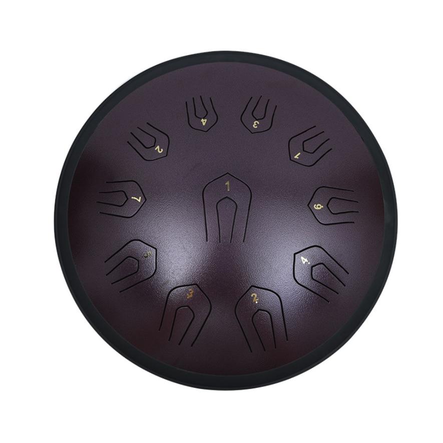 Steel Tongue Drum 18 inch Double tone  Drum Handheld Tank Drum Percussion Instrument Yoga Meditation Beginner Handpan enlarge