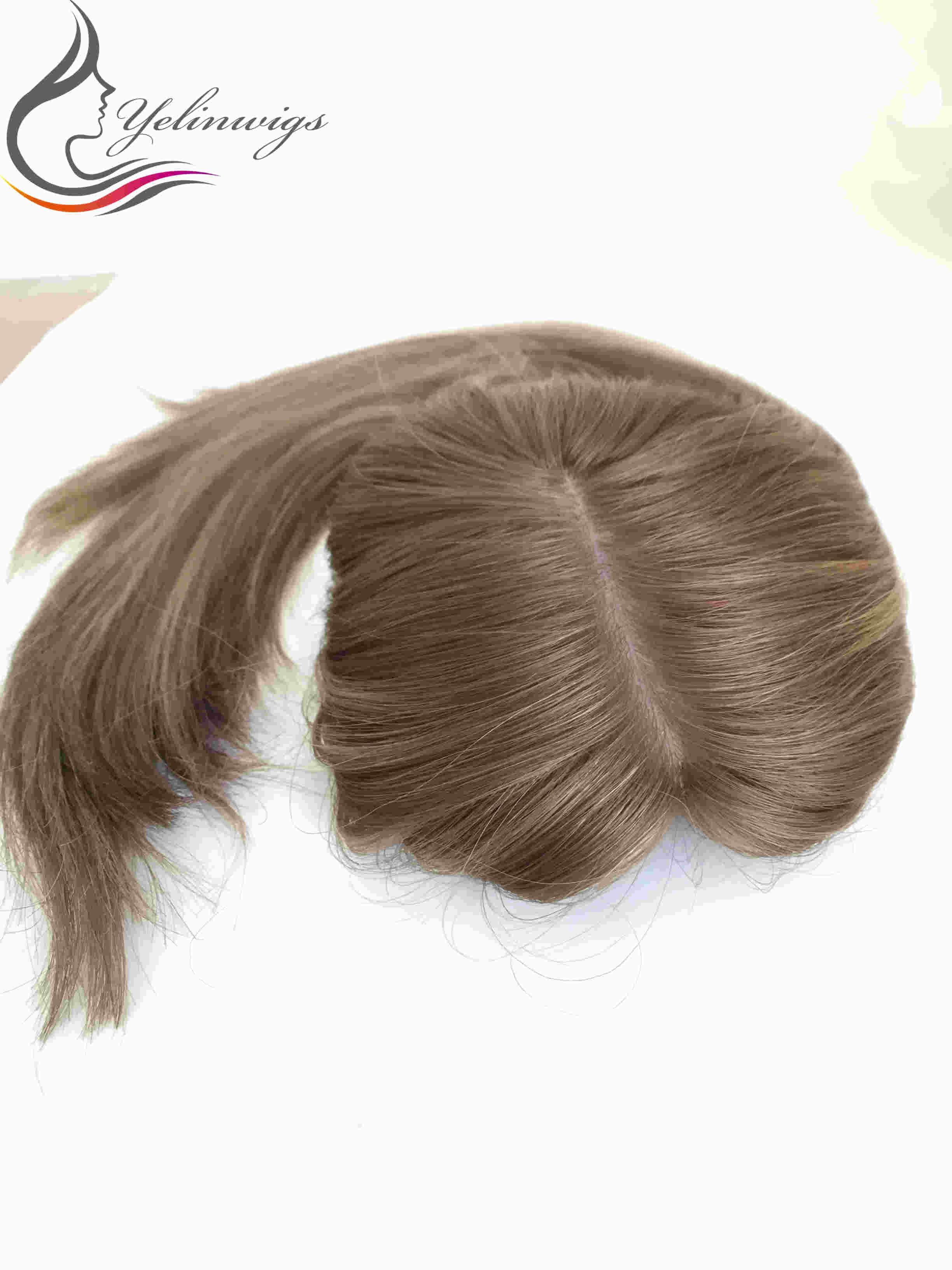 Yelin Perücken Blonde Farbe Jüdische Topper Haar Stück Hohe Qualität Europäischen Haar Kippa Herbst Kosher Haar Stück