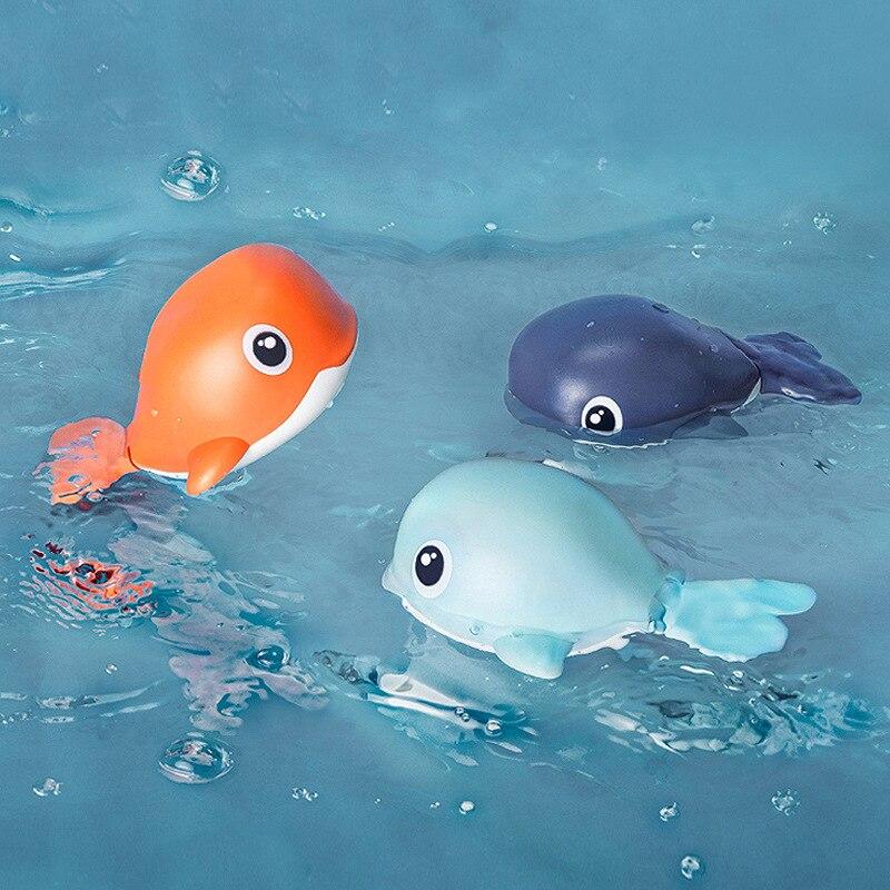 Juguetes de baño con animales de dibujos animados, Tortuga, Delfín, juguete de agua clásico para bebé, juguete de natación infantil, accesorios para piscina, juguetes para bebés