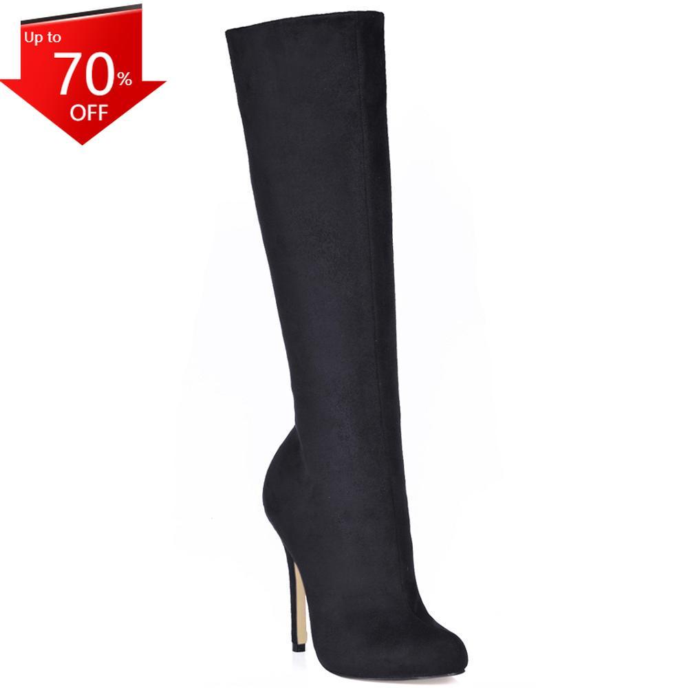 Botas hasta la Rodilla para Mujer, Zapatos de tacón Alto sexys de Aguja, Stiletto, Fiesta de Noche, YJ0640CBT-b2