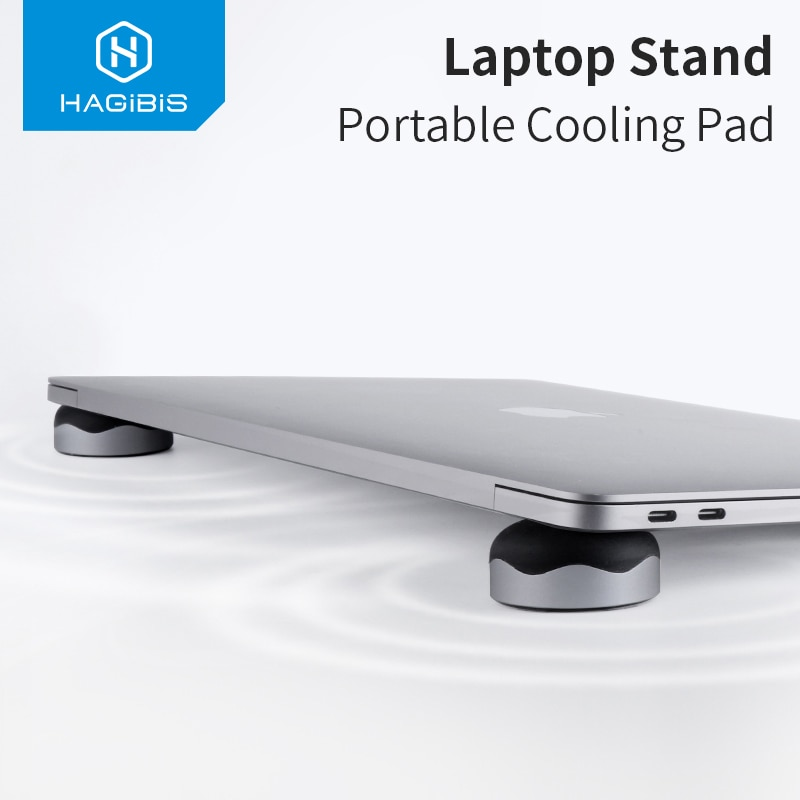 Hagibis Laptop Stand Magnetic Portable Cooling Pad For MacBook Cool Ball Heat Dissipation Skidproof Cooler