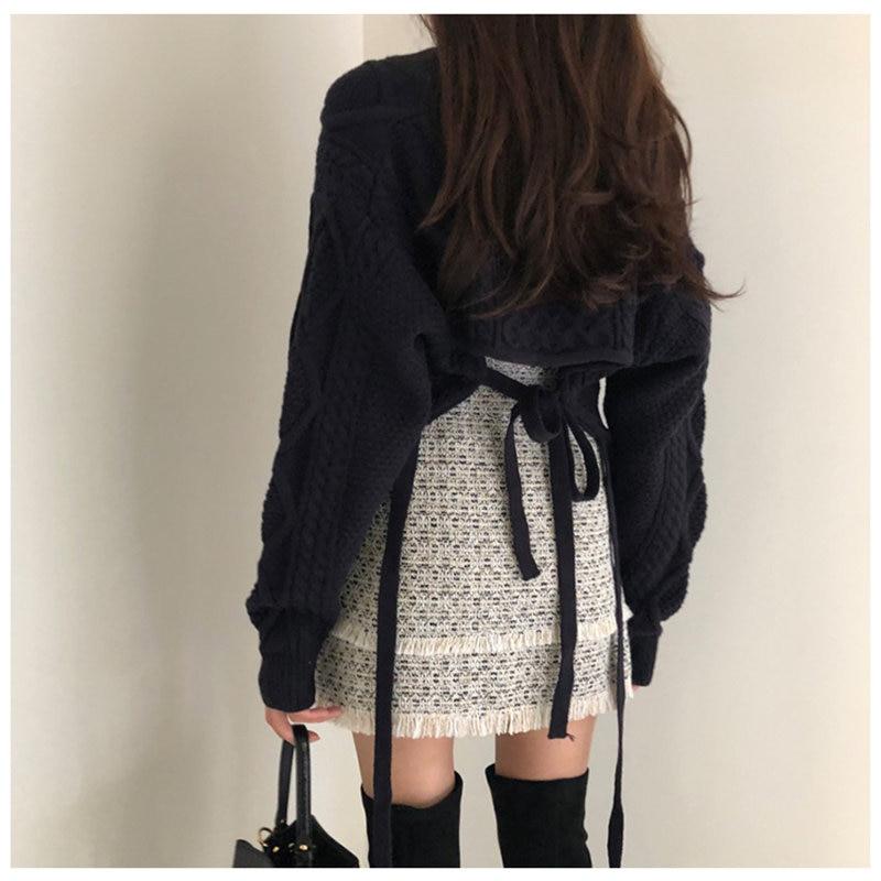 Hzirip 2019 mujer elegante cálido suave suelta mangas de murciélago Casual grueso estilo perezoso Otoño Invierno dulce suéter de punto