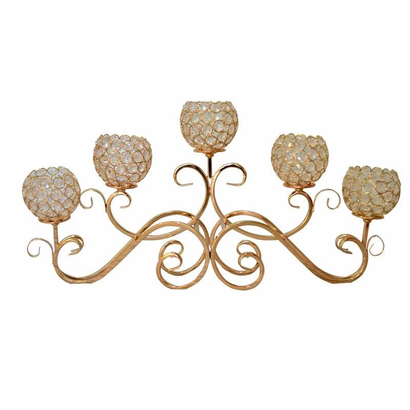 Candelabro de Cristal nórdico creativo de hierro de lujo romántico candelabro sala...