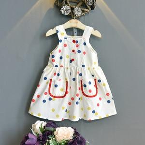 Baby Girl Summer Dresses 2021 Color Polka Dot Sling vestidos Princess Birthday Party Clothes Cute Casual Dress