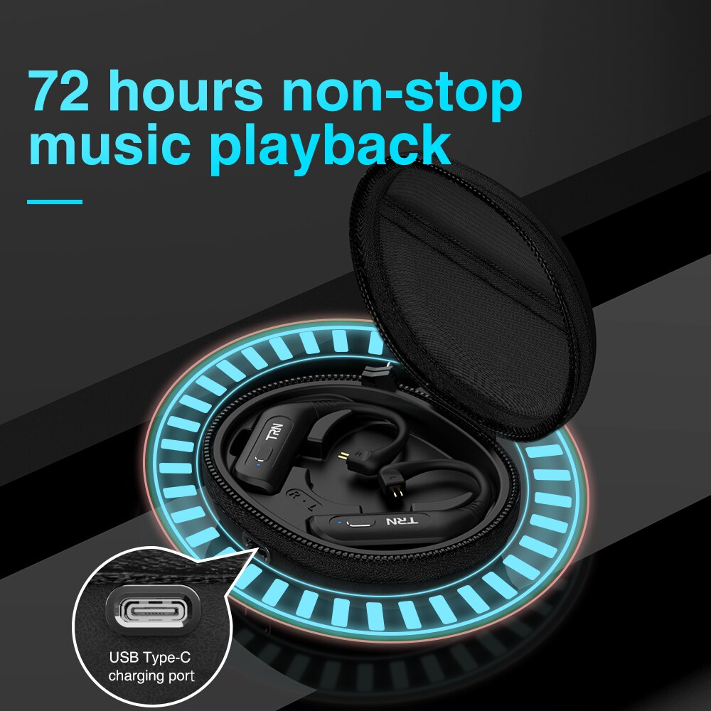 TRN BT20S PRO APTX Wireless Bluetooth 5.0 HIFI Earphone 2PIN MMCX Connector Replaceable plug Ear Hook For your headset earbuds enlarge