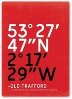 none brand old trafford metal wall sign tin warning hanging signs vintage plaque art poster painting