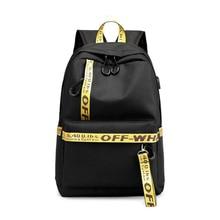 2019 nueva mochila de ocio bolso de estudiante mochila de toma de carga tipo USB