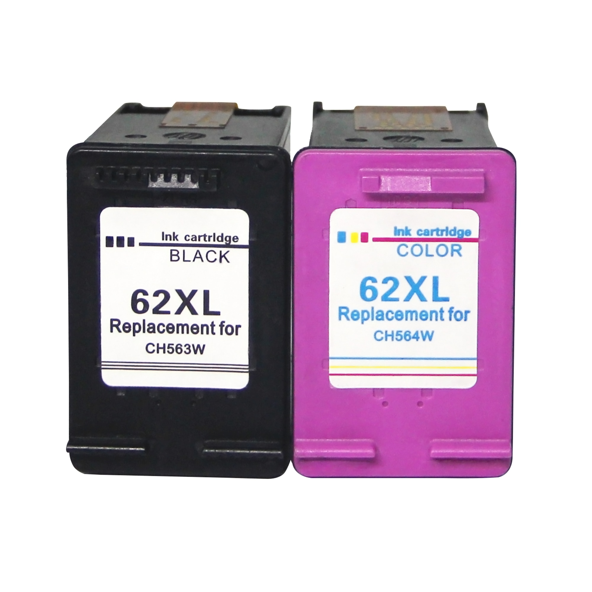 Veteran 62XL Refilled Ink Cartridge Replacement for hp 62 XL hp62 for HP Envy 5640 OfficeJet 200 250 5540 5740 5542 7640 printer