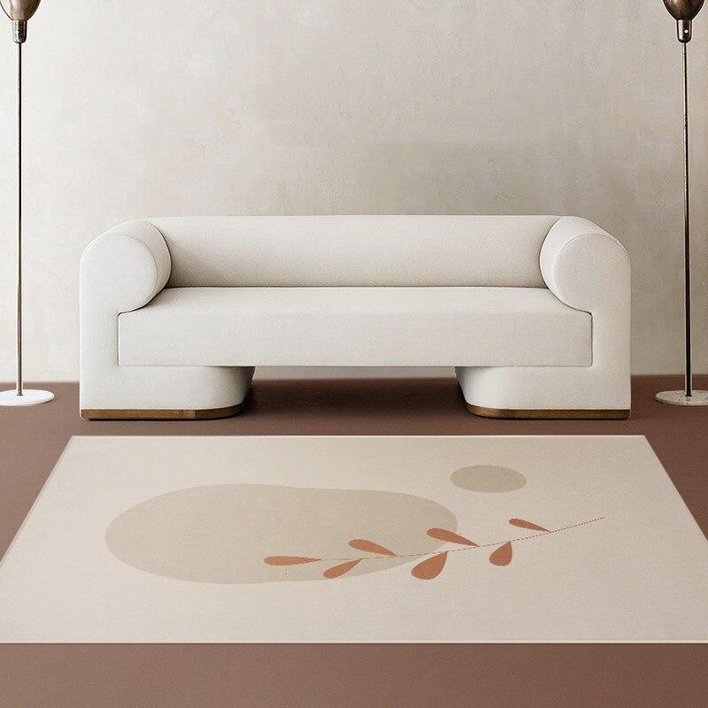 Morandi السجاد لغرفة المعيشة مجردة لينة المخملية حصيرة الكريستال المخملية البساط طاولة القهوة الطابق السجاد شرفة ديكور المنزل السجاد