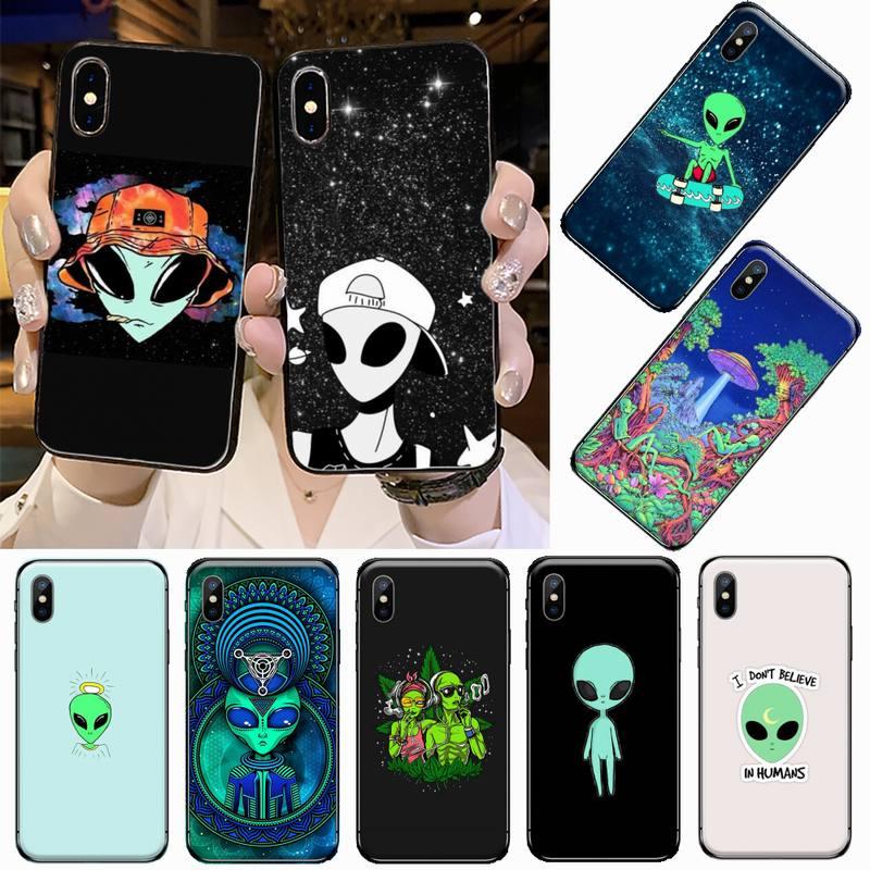 Universo alienígena espaço céu estrelado caso de telefone para iphone 5 5S 5c se 6s 7 8 plus x xs xr 11 pro max coque casca funda