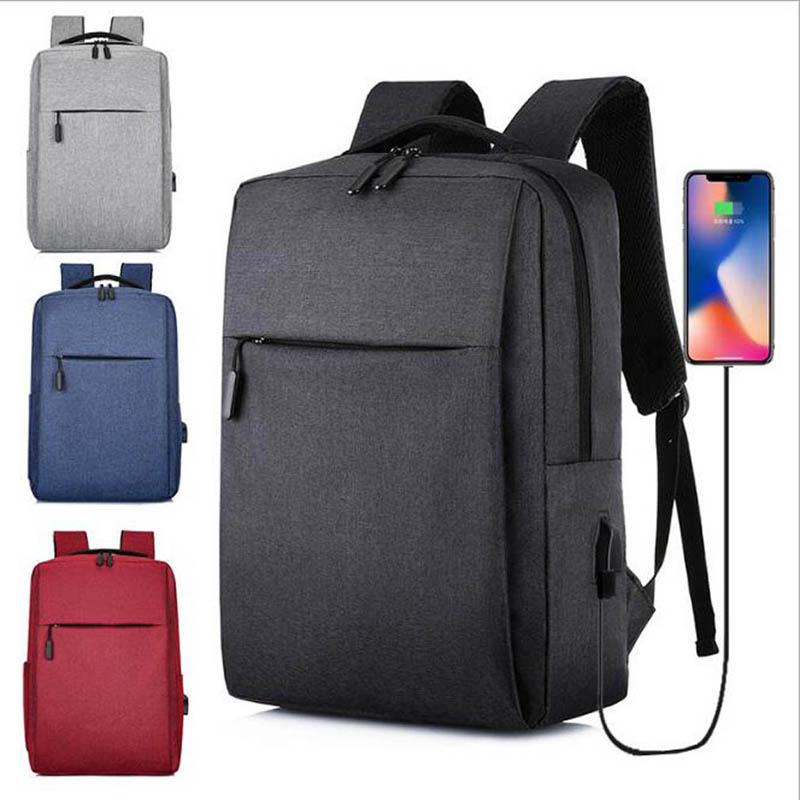 Новый простой рюкзак с Usb-зарядкой, Мужская Повседневная деловая сумка для компьютера 2021   АлиЭкспресс