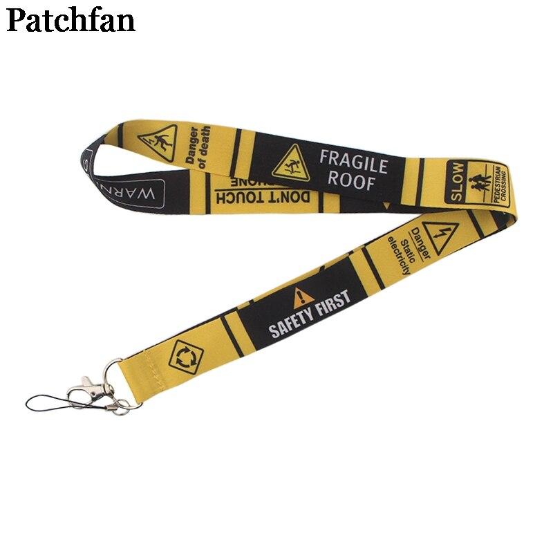 Sinais de alerta Patchfan cinta Colhedores id badge titulares de telefone chaves colar colarinhos id titulares dos passes webbing fitas A2284