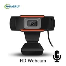 Hangrui PC Webcam Full HD 1080P USB Video Gamer cámara para Portatile de la computadora portátil Web cam micrófono para Youtube cámara Web