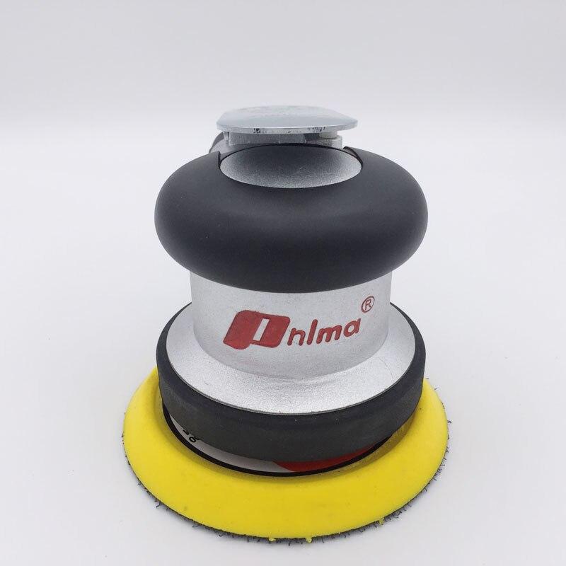 Herramientas neumáticas de 4 pulgadas de vacío mate redonda máquina de lija neumática de pista aleatoria máquina de pulir neumática