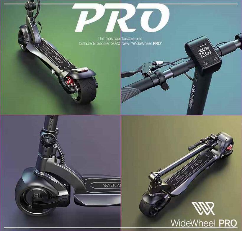 2020 Mercane Wide Wheel Pro Smart Electric Scooter 48V 1000W Kickscooter Dual Motor scooter Disc Brake Skate board