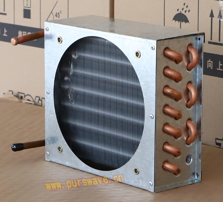 FN2x7x200 PURSWAVE Mini condensador evaporador refrigerado por aire aleta espacio tubo de cobre intercambiador de calor puede instalar 1pc 180x180 ventilador
