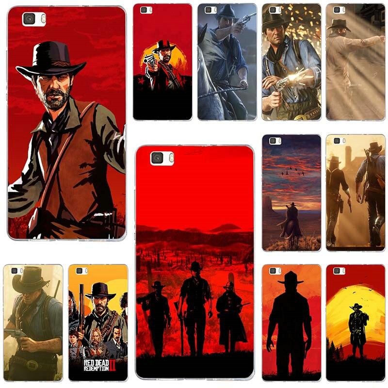 Rojo muertos redención 2 obra de arte para Huawei P8 P9 P10 P20 P30 Mate 10 Lite 2017 Pro Honor 7 7A 7X9 10 fundas suaves de TPU