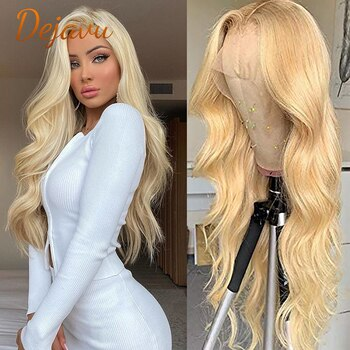 613 Blonde Lace Front Body Wave Wigs 13x4 Lace Frontal Wig Human Hair Wigs Preplucked Hairline 100% Virgin Remy Wigs For Women