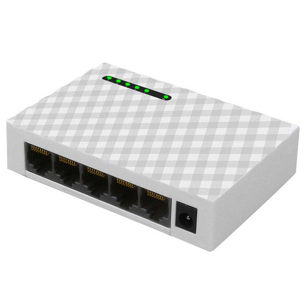 5 منافذ جيجابت 1000Mbps RJ45 LAN جهاز سويتش للشبكات سطح المكتب إيثرنت سريع التبديل اكسسوارات شبكات الكمبيوتر المنزلية