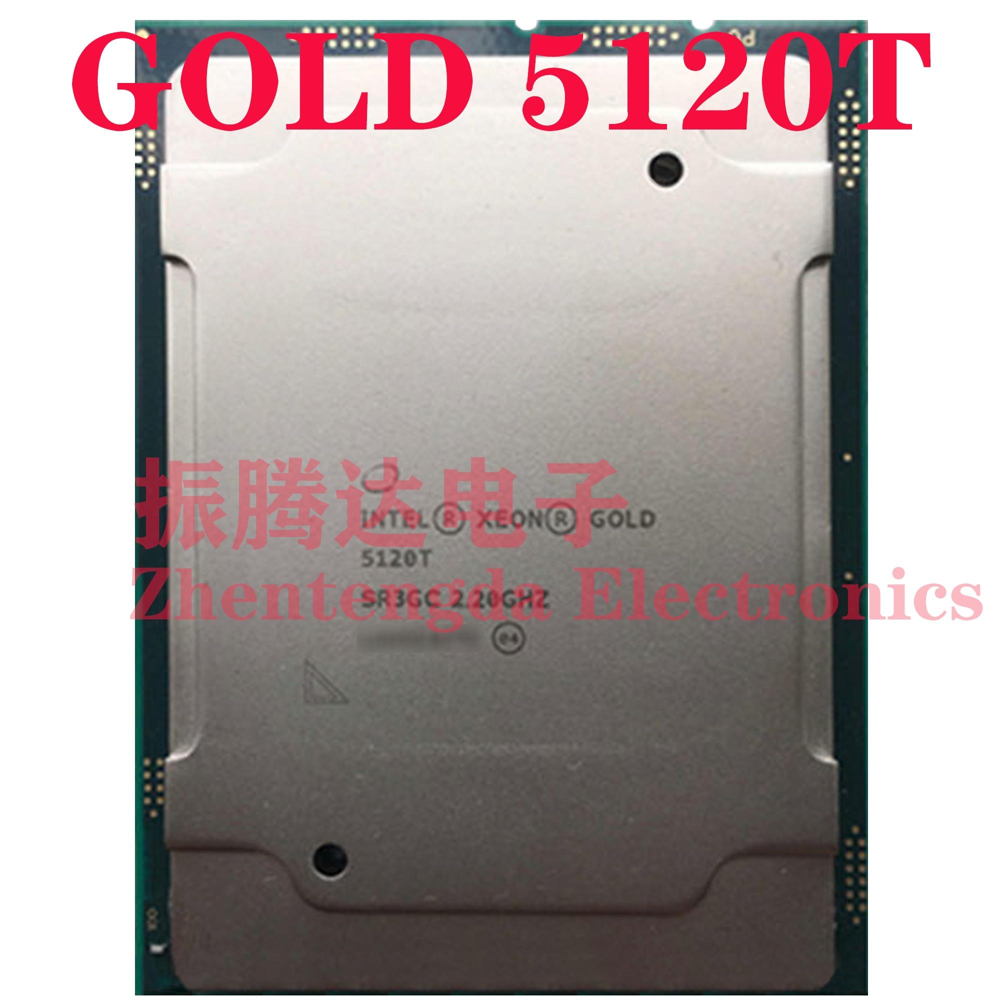 Intel Xeon Gold 5120T CPU 2.2GHz L3-19.25MB 14 Core 28 Threads LGA-3647 Gold 5120T CPU Processor