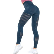 Sexy pêche hanche taille haute pantalon femmes ventre tenant Fitness pantalon tricoté sans couture séchage rapide respirant entraînement
