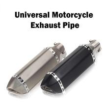 Universal Geändert Motorrad Laser Logo RACING Auspuffrohr Moto flucht Schalldämpfer für Motorrad ATV Roller Dirt bike