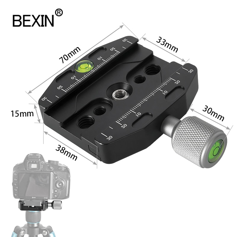 QR70N camera clamp quick release clamp tripod mount adapter profession dslr stand portable clamp for arca swiss point camera bexin camera clamp tripod clamp quick release clamp ball head rrs compatible adapter mount holder bracket for arca dslr camera