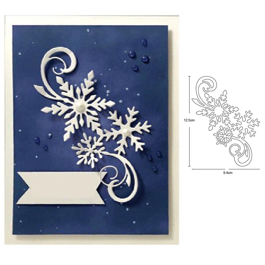 Troqueles de metal personalizados matrices de Navidad encaje copos de nieve tira arte de colección de recortes cuchillo molde de cuchilla perforadora de plantillas troqueles