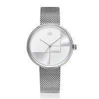 synoke new luxury brand wristwatch women quartz clock ladies golden silver watch metal strap grid dial relogio feminino watch
