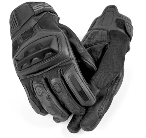 New One Motorbike Leather GS Gloves For BMW motocross motorbike Scooter Locomotive Black Gloves For men