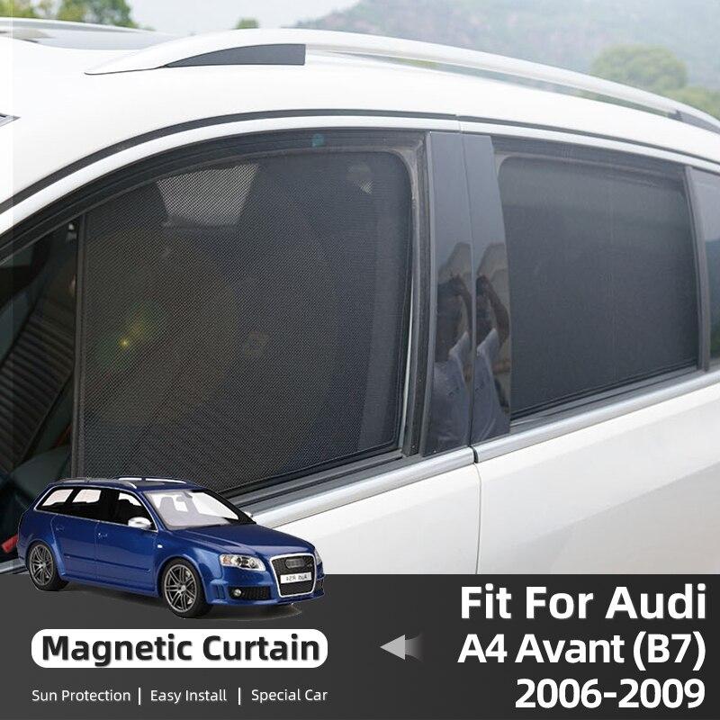 Магнитные автомобильные шторы для Audi A4 B7 Avant 2006-2009, солнцезащитные козырьки на окно, солнцезащитные аксессуары
