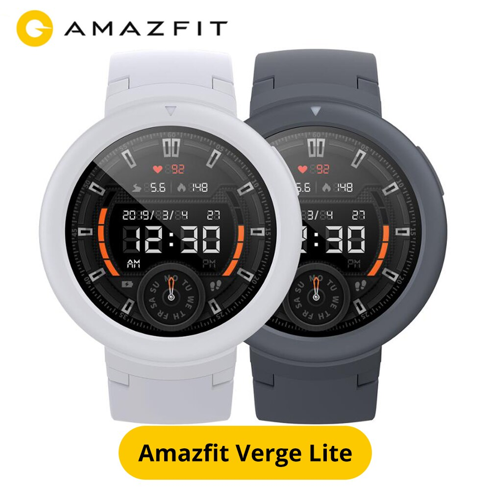 Versión Global Amazfit Verge Lite reloj inteligente GPS de larga duración con batería GPS GLONASS reloj deportivo para teléfono Android IOS