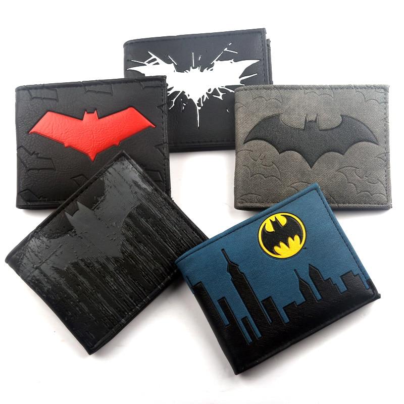 Кошелек «Бэтмен» мультфильм комиксы символ Би-складной кошелек id Окно на молнии карман держатель кредитной карты