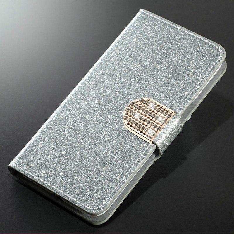 Para Samsung A3 A5 A300 A320 A500 A520 2015, 2016, 2017, 2018 de brillo de la PU cubierta de la caja del teléfono de cuero brillante como los diamantes