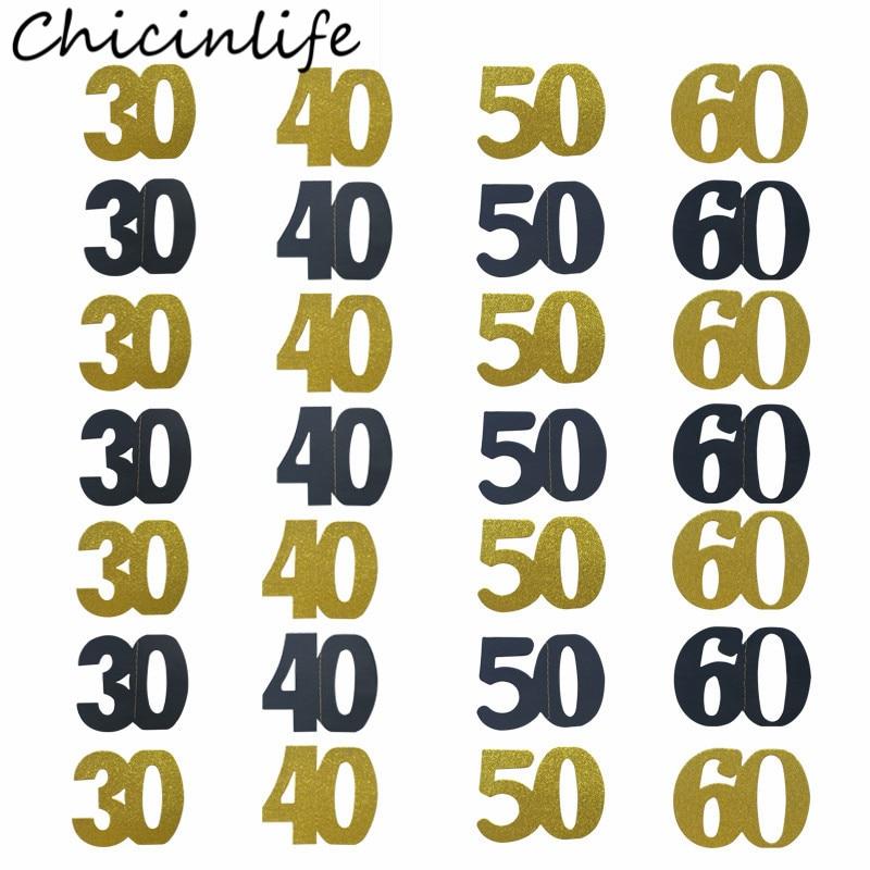Chicinlife 1Set 18th 21st 30th 40th 50th 60th colgantes de papel Banner decoraciones de fiesta de cumpleaños adultos aniversario guirnalda suministros