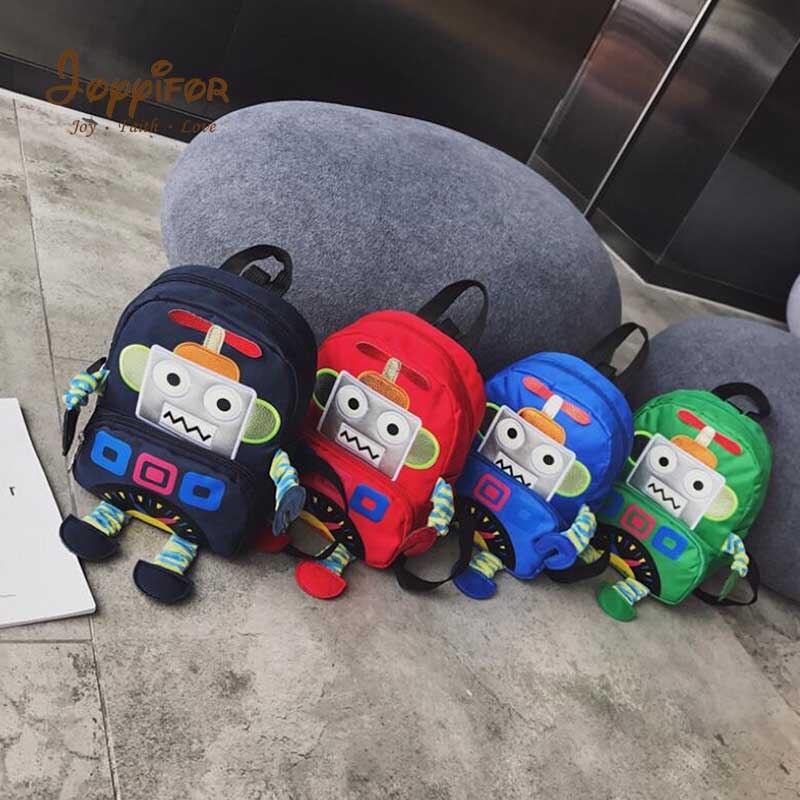FGHGH 4 tipo Robot Super lindo escuela Alien bolsas dibujos animados estilo 3D niños mochilas jardín de infantes niñas bebé fresco viaje bolsas
