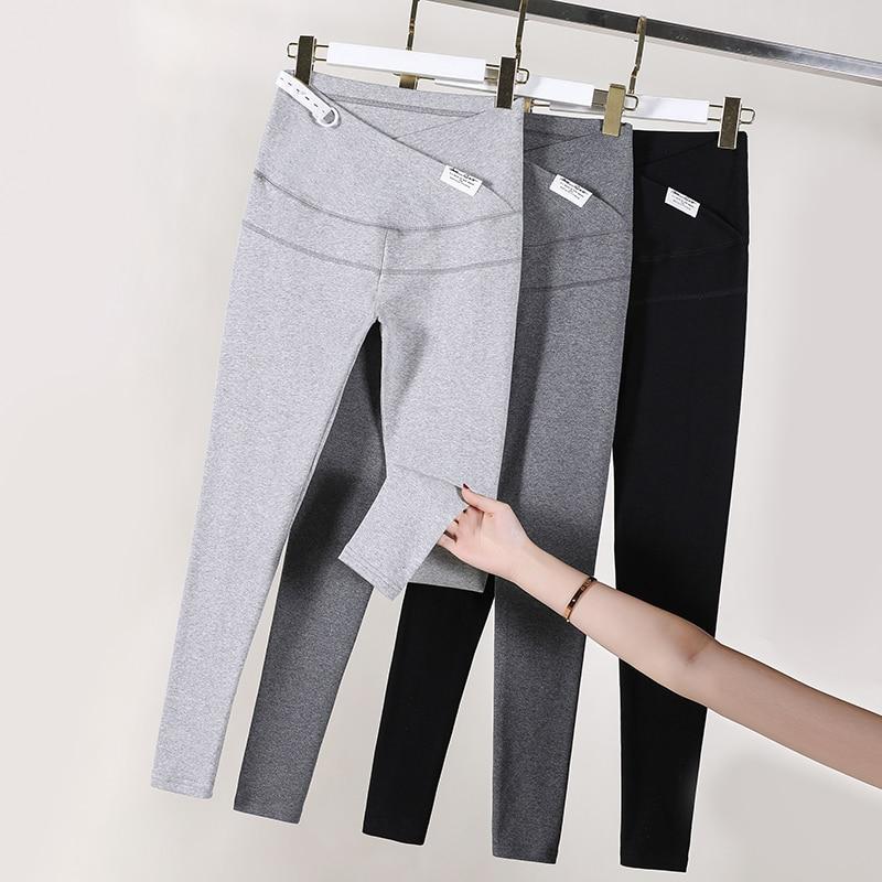 سروال ضيق من القطن 8832 # ، خصر منخفض على شكل حرف V ، ملابس الأمومة ، نحيف ، بنطلون قابل للتعديل ، ملابس الربيع للنساء الحوامل ، 95%