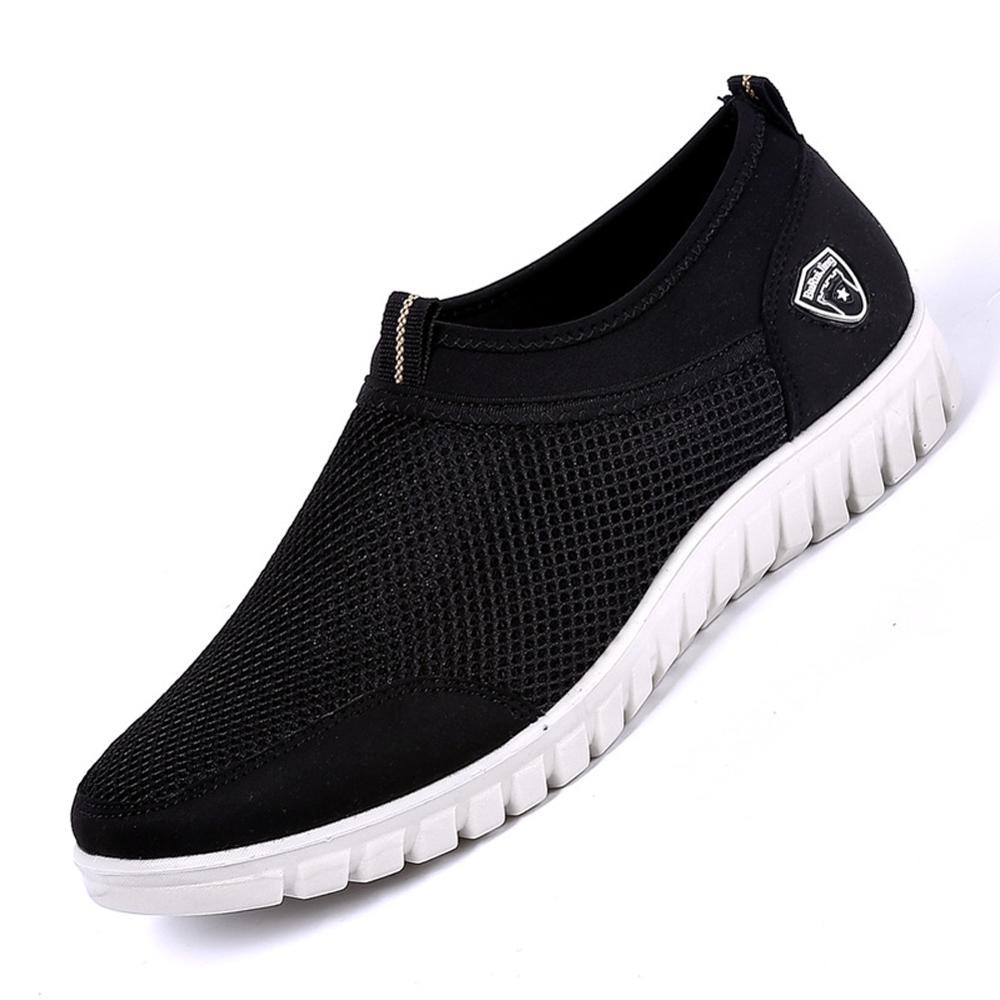 Calzado informal para hombre, Zapatillas de malla transpirables, mocasines para caminar, zapatillas ligeras suaves, zapatos de verano sin cordones para hombre WJ009